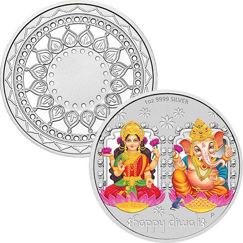 1oz Diwali Silver Medallion