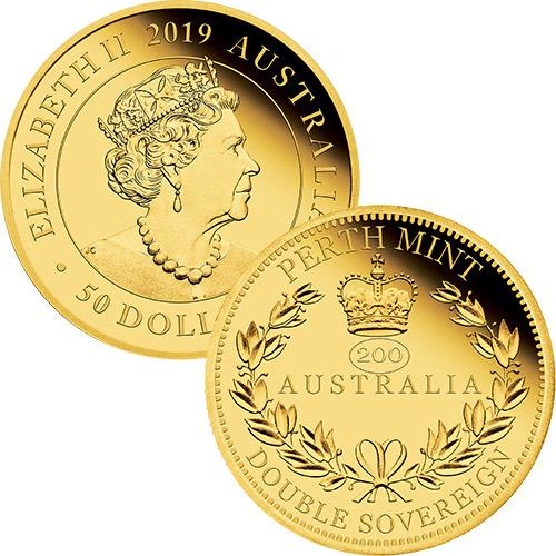 2019 Australia Double Sovereign Proof Coin