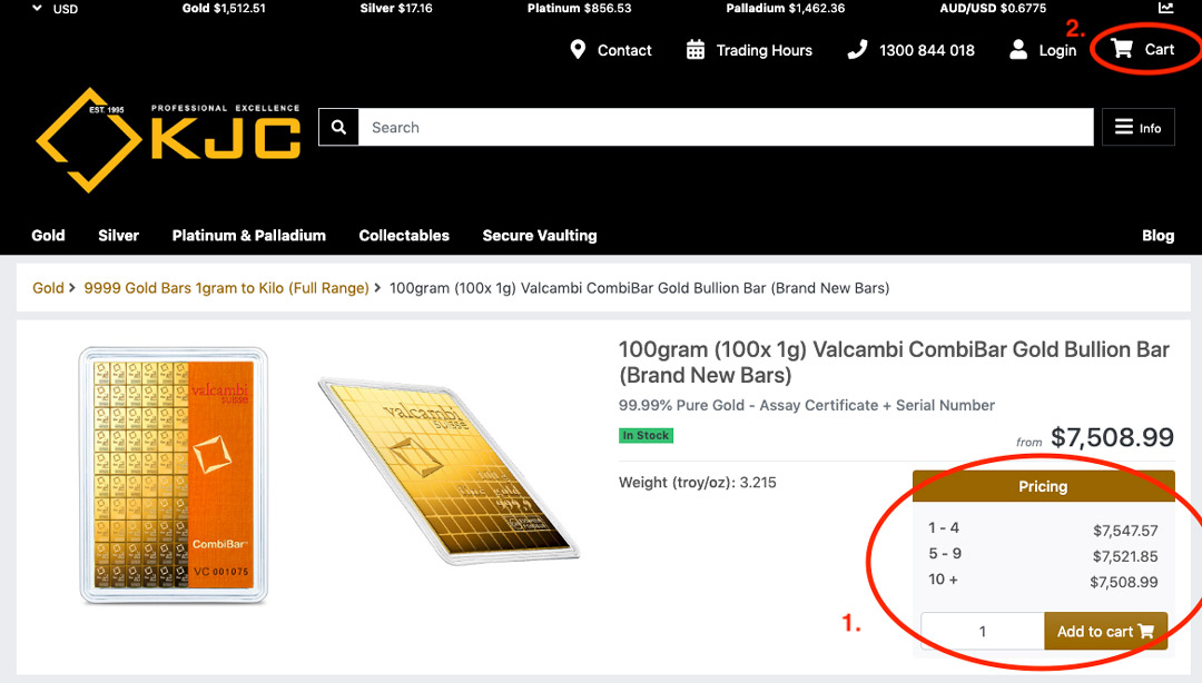 How to Buy Bullion Online - KJC Coins Australia