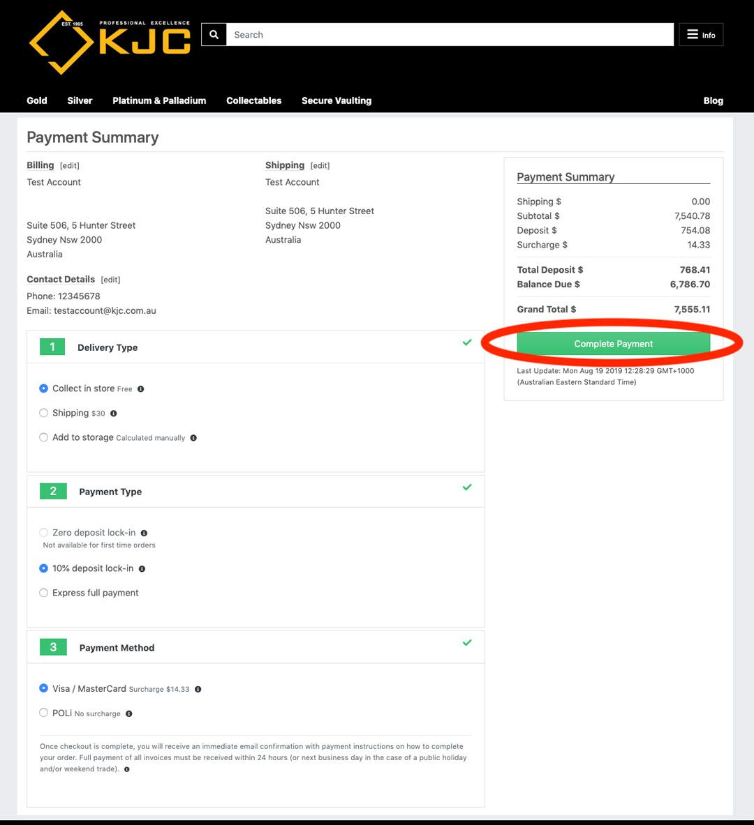 How to Buy Bullion Online - KJC Coins Australia